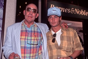 """Johnny Depp and """"Fear and Loathing"""" writer Hunter Thompson"""